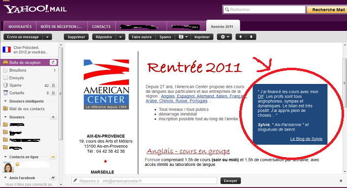 emailing american center aix